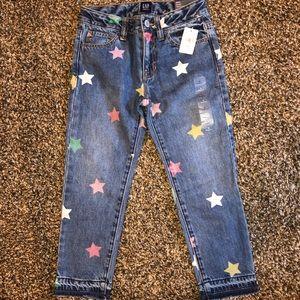 Girls Gap Heart Jeans Size 6 NWT